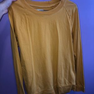 Aritzia yellow long sleeve
